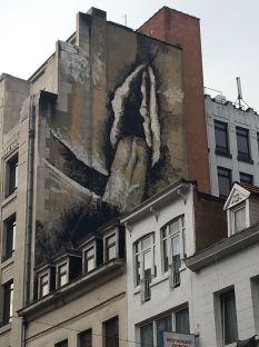 Oeuvre effacée - Street artist inconnu Rue des poissonniers, Bruxelles