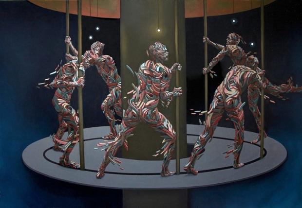 Shaka (Marchal Mithouard) Carrousel, 2016 190 x 270 cm