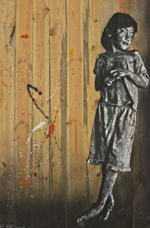 L'enfant de Stung Meanchey par Jef Aérosol, d'après une photo de Fred Atax