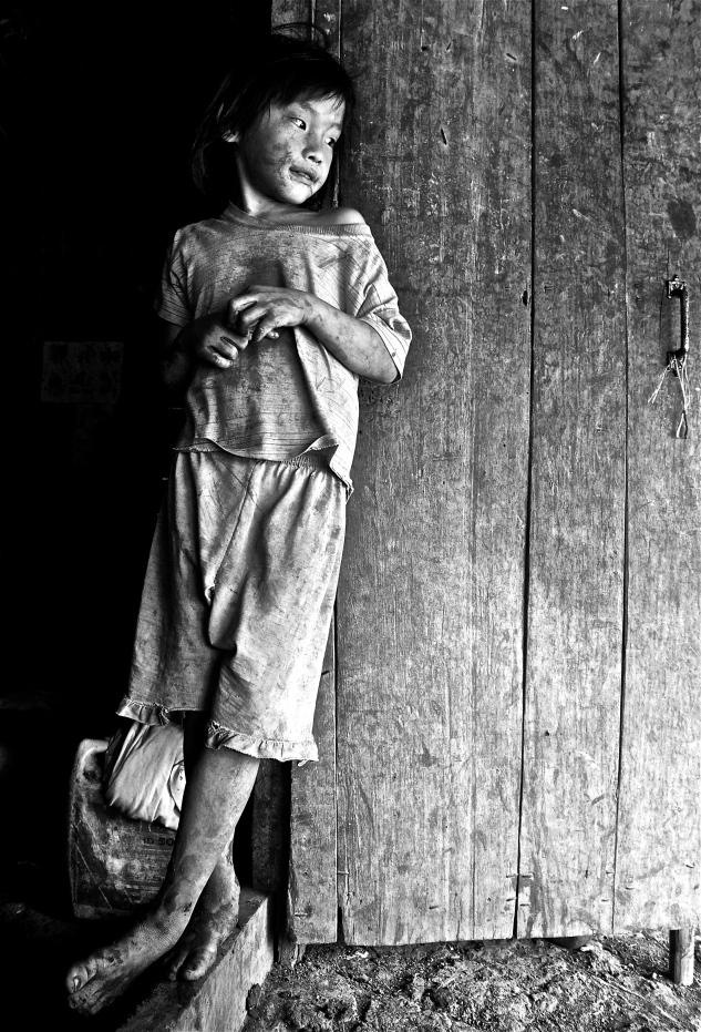 Photo originale d'un enfant cambodgien ©Fred Atax