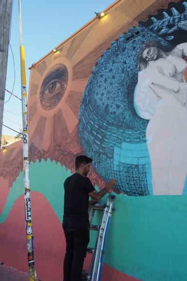 L'artiste portoricain Alexis Diaz, Work in progress